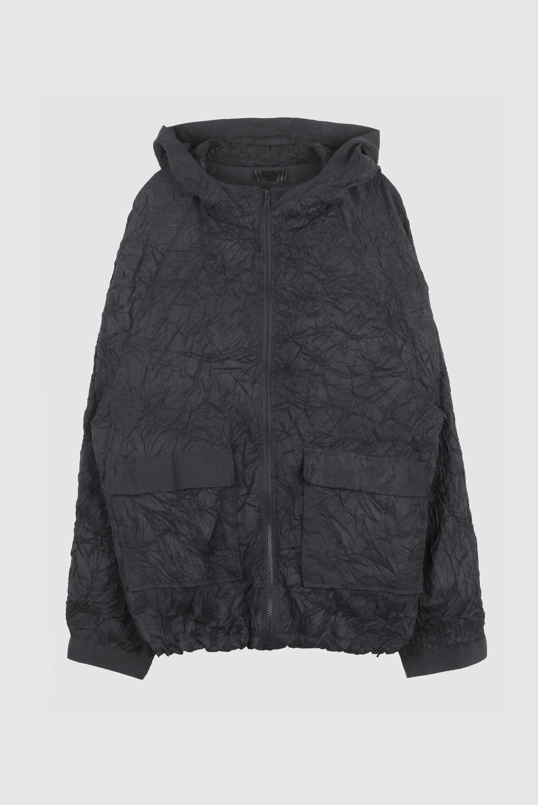 Wrinkle_Creezed Hood Zip-up