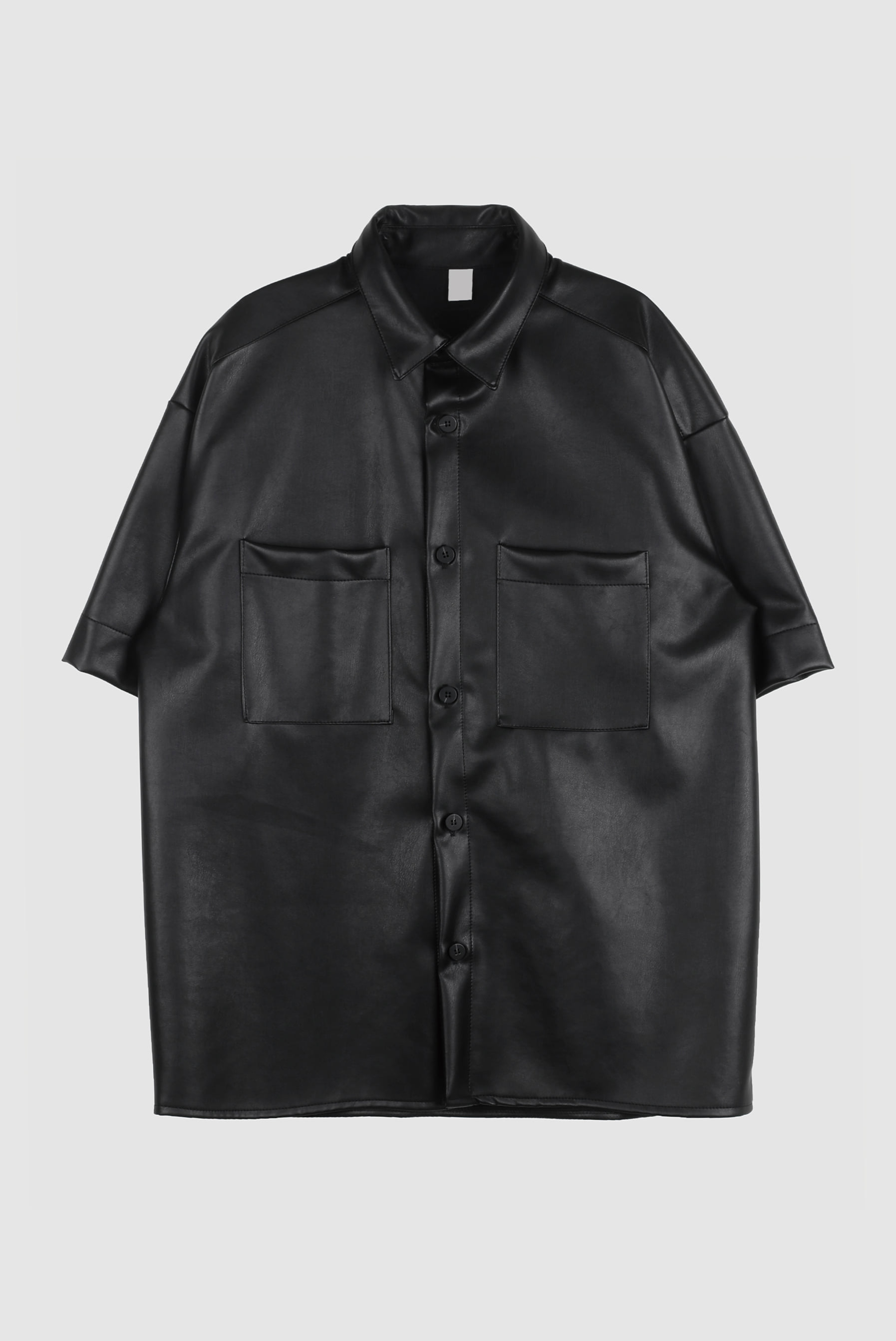 Leather_Poket Half_Shirt