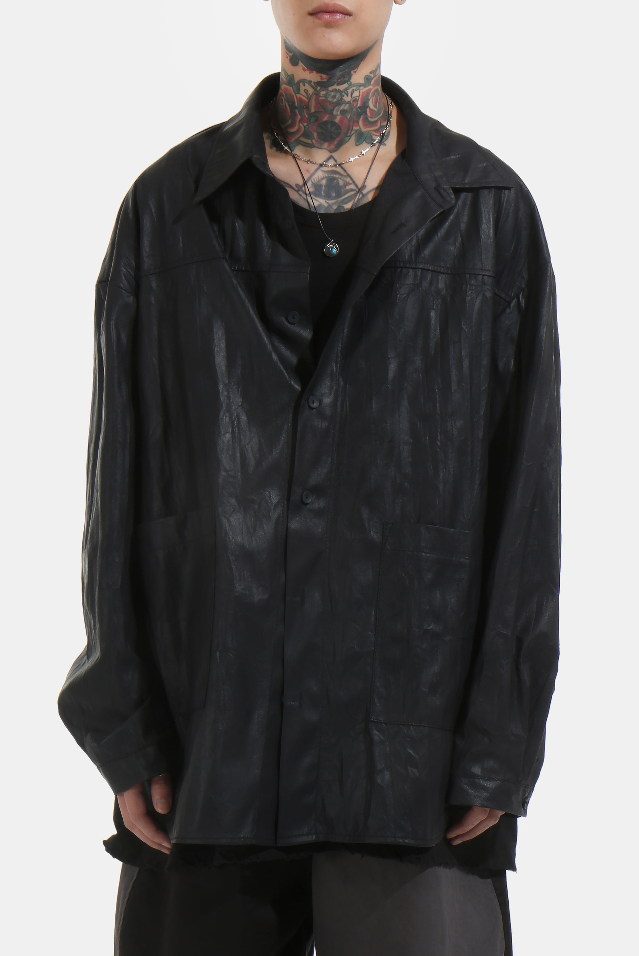 Wrinkle_Leather Over Shirts_Jacket