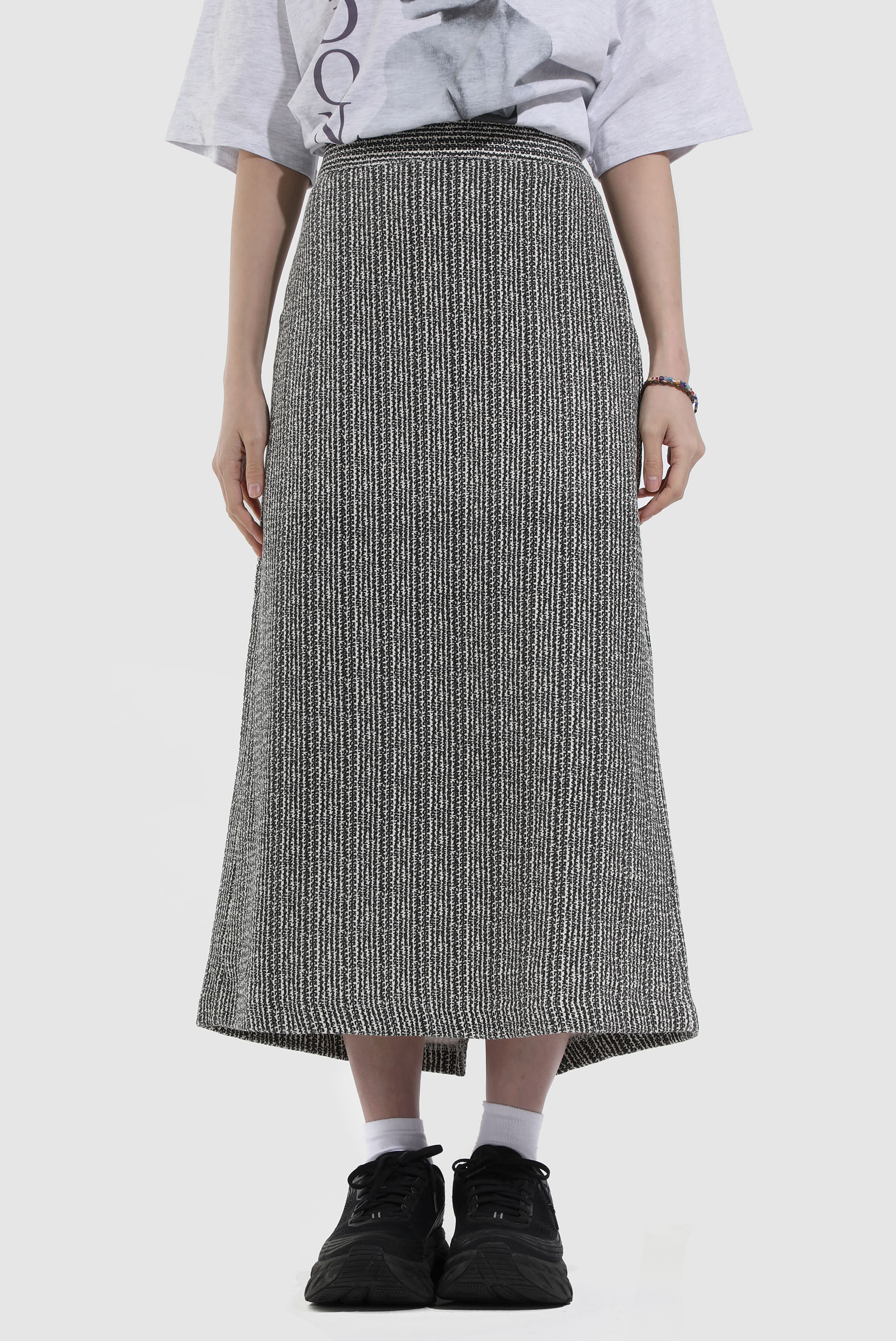 Jacquard_Denim Long Skirt