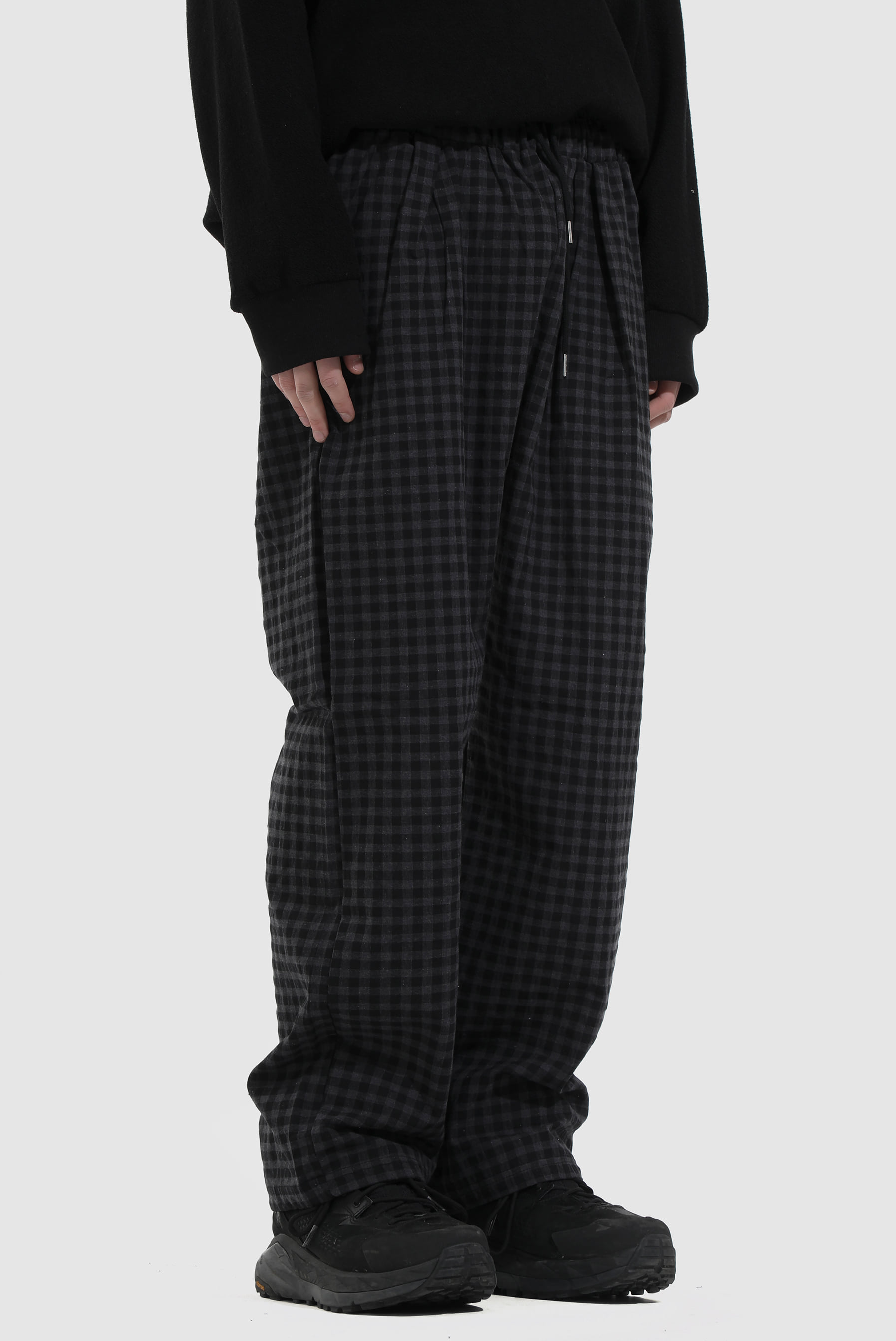 Gingham_Check Wide_Pant