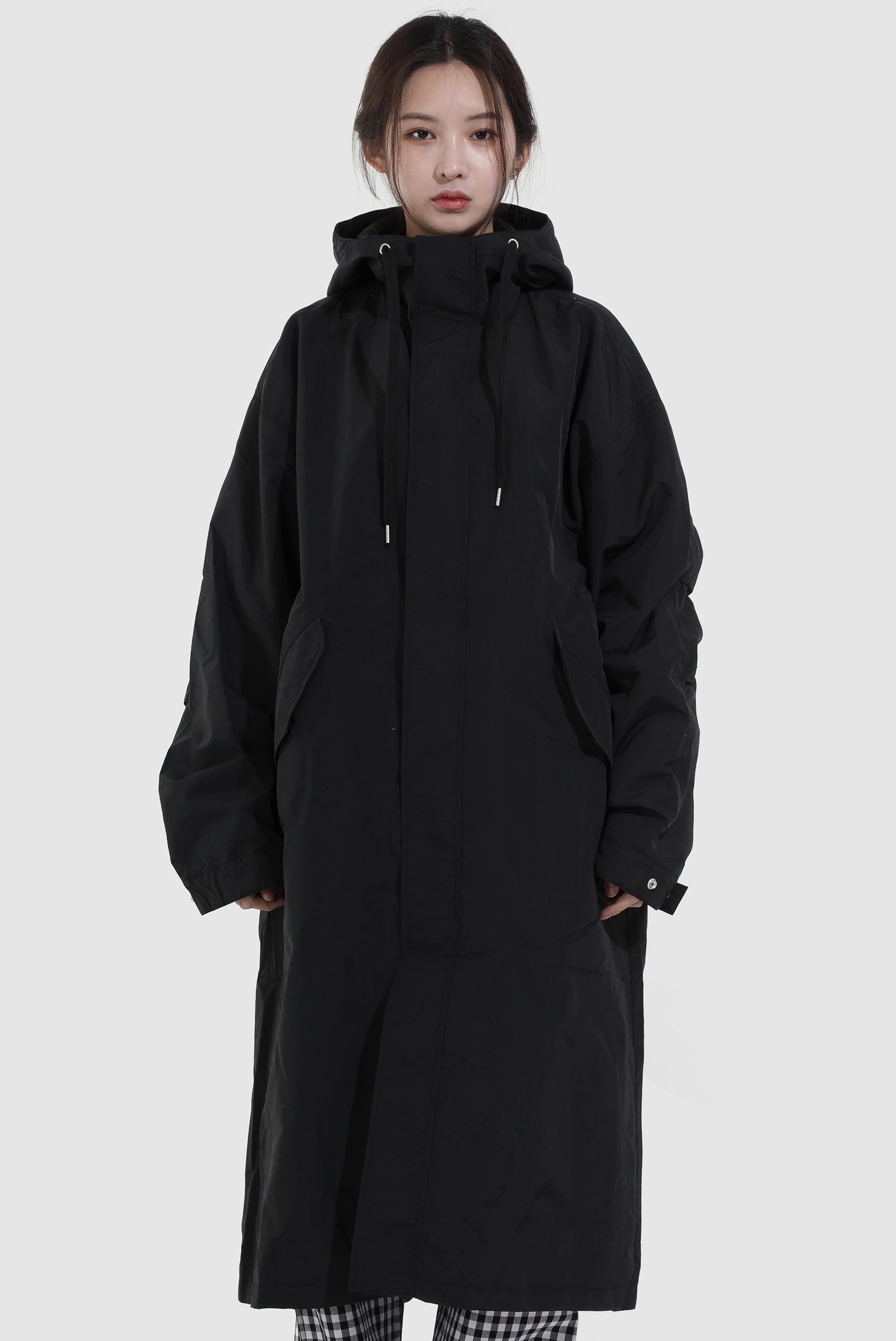 Oversize Nylon Hood Field_Jacket